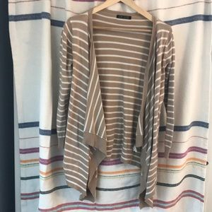 Cascade front striped sweater